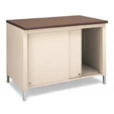 "48""W x 30""D Extra Deep Open Storage Table with Sliding Doors"