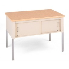 "48""W x 30""D Standard Table With Sliding Locking Door"