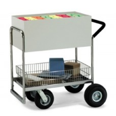 Medium Solid Metal Cart with Cushion Grip Handle.