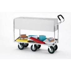 "Extra Long Solid Metal Cart with 8"" Tires and Cushioned Ergo Handle"
