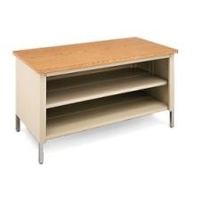 "60""W x 30""D Extra Deep Storage Table With Center Shelf"