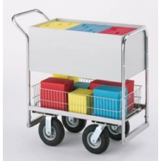 Medium Solid Metal Cart with 3 Different Wheel Options.