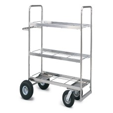 Extra-Long. Triple-Decker Frame Cart With Air Tire