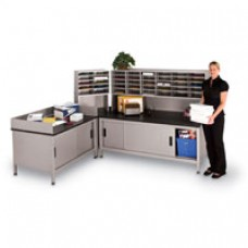 "45-1/2"" Modular Dump Table w/ Sliding Doors"