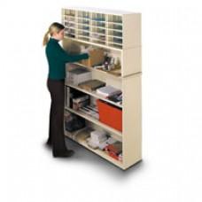 2 Shelf Storage Shelves with 40 Pocket Elevated Sorter