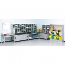 L-shaped Supervisor Desk and L-Shaped Sorting Station with (120) Mail Slots