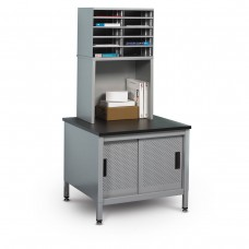 10 Literature/Mail Slots w/ Riser and Storage