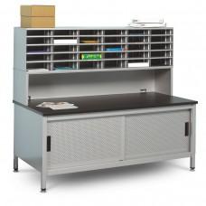 30 Literature/Mail Slots w/ Riser and Storage