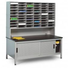 60 Literature/Mail Slots w/ Riser and Storage