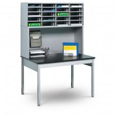 20 Literature/Mail Slots w/ Riser and Storage