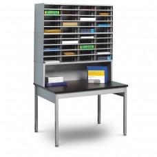 40 Literature/Mail Slots w/ Riser and Storage