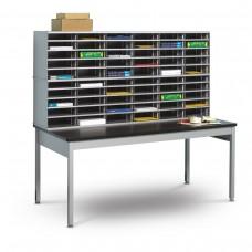 60 Literature/Mail Slots w/ Storage